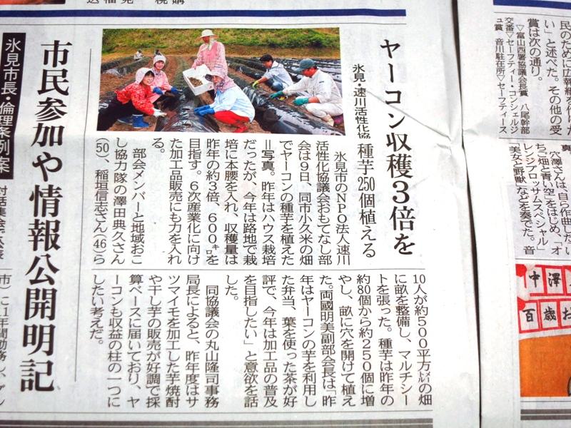 160510_富山新聞ヤーコン圧縮