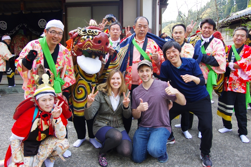 First in Japan and Toyama! ? Lion Dance monitoring Tour participants also climax region (● ^ O ^ ●)